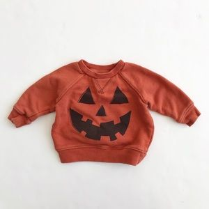 Gymboree pumpkin face sweatshirt GUC 3-6 months